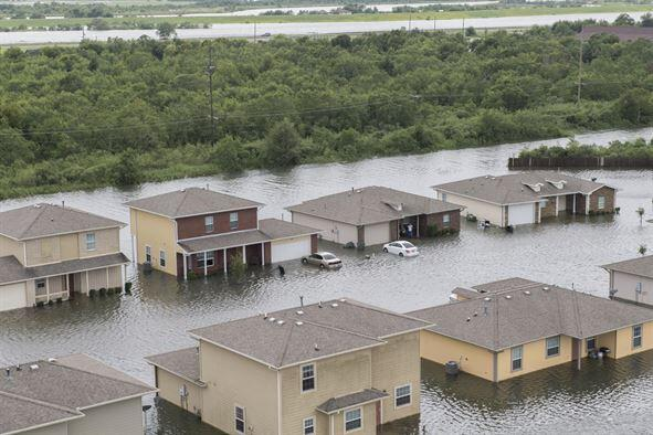 property flooded by harvey
